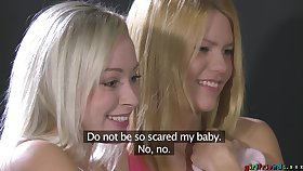 Erotic lesbian sex between horny Sofie and her amateur friend