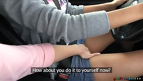 Amazing lesbian sex in the motor with pussy hungry Eufrat Mai