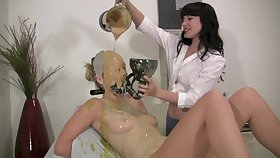 Lezdom Zigzags Slave Into a Real Mess