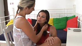 Lovely hot ass porn hotties Daria Glower with an increment of Anita King in a nasty lesbian scene