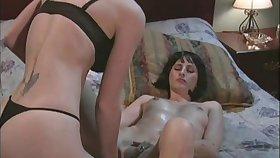Pulchritudinous hot irritant porn hotties in a nasty lesbian scene