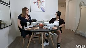 Lesbian trample and poking nearly a strapon - Maggie and Natalie