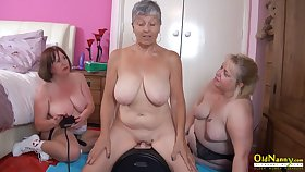 OldNannY Several British Matures and Sex Machine