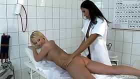 Tribade sexual relations between patient Loretta and nurse Jasmin Field